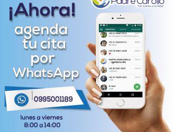Agenda tu cita por Whatsapp