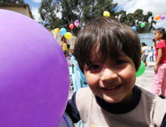 Niño beneficiario de los Centros Infantiles.