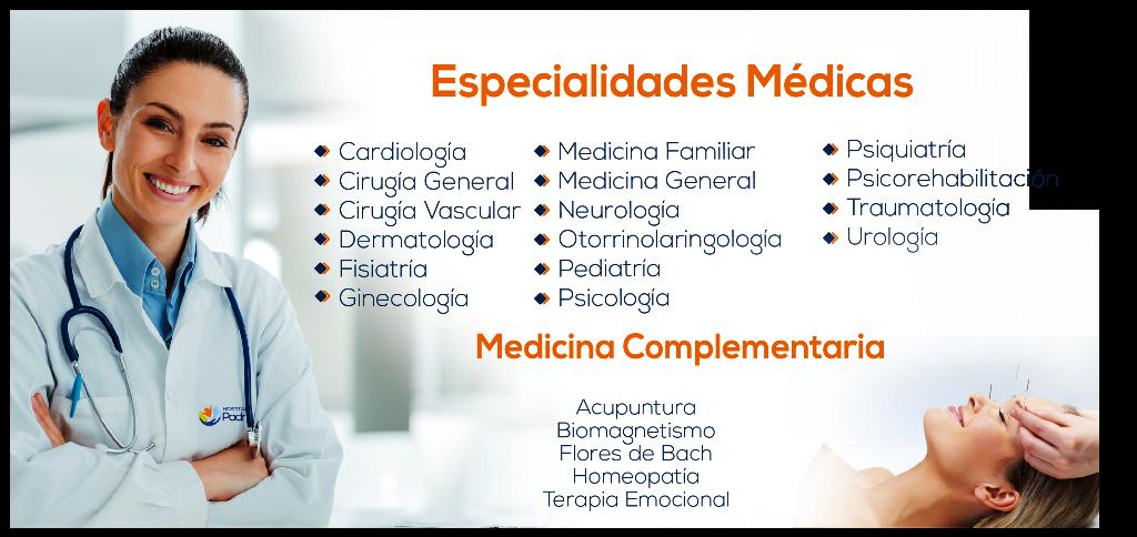 Especialidades Médicas y Medicina Complementaria