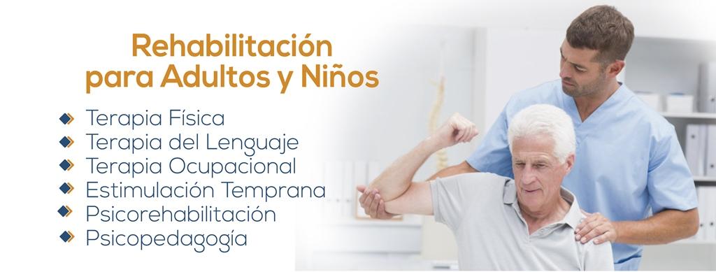 Especialidades de Rehabilitación del Centro Médico Tierra Nueva
