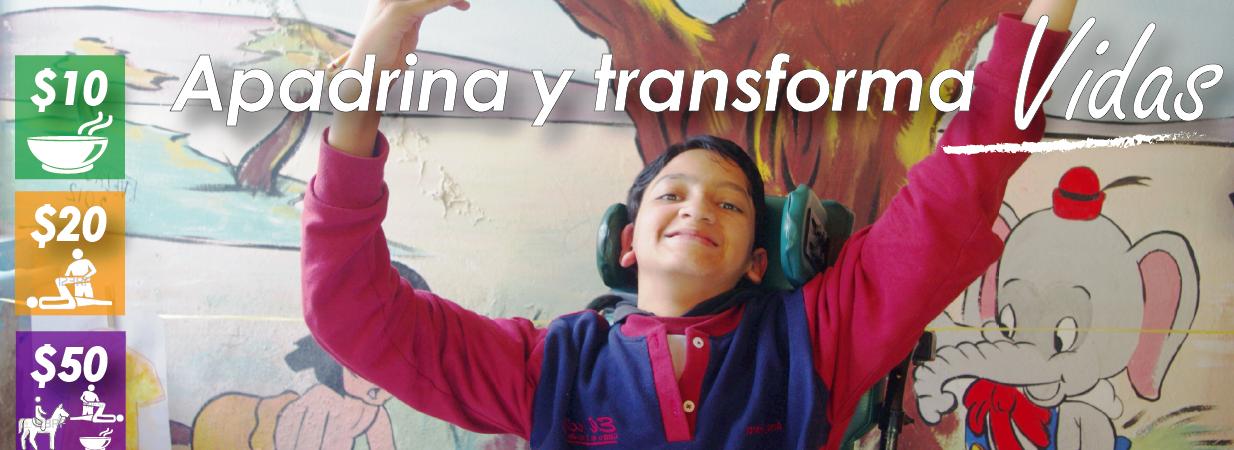 Campaña de apadrinamiento para niños con discapacidad grave