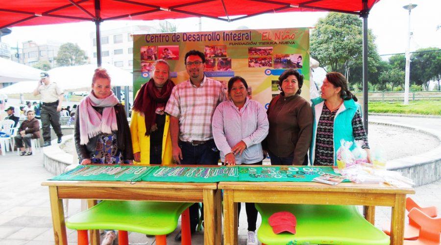 Se exhibieron algunos trabajas y manualidades realizadas por los niños con discapacidad