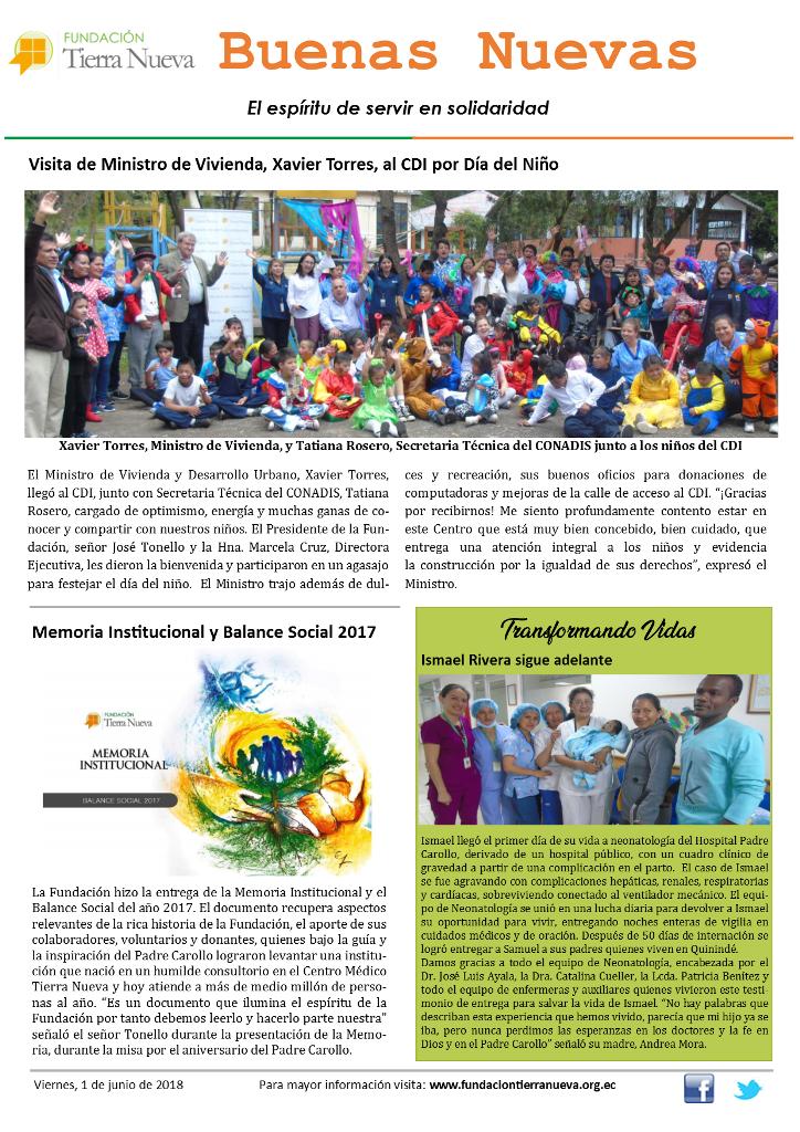 Boletín Buenas Nuevas de junio