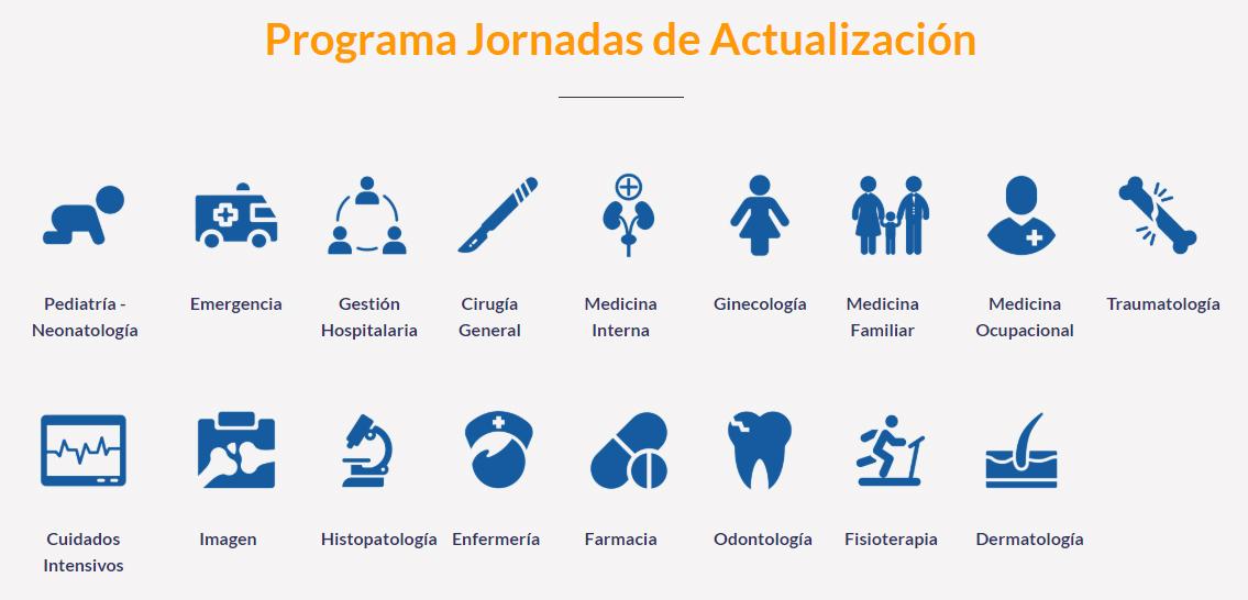 Programa de las Jornadas de Actualización Médica