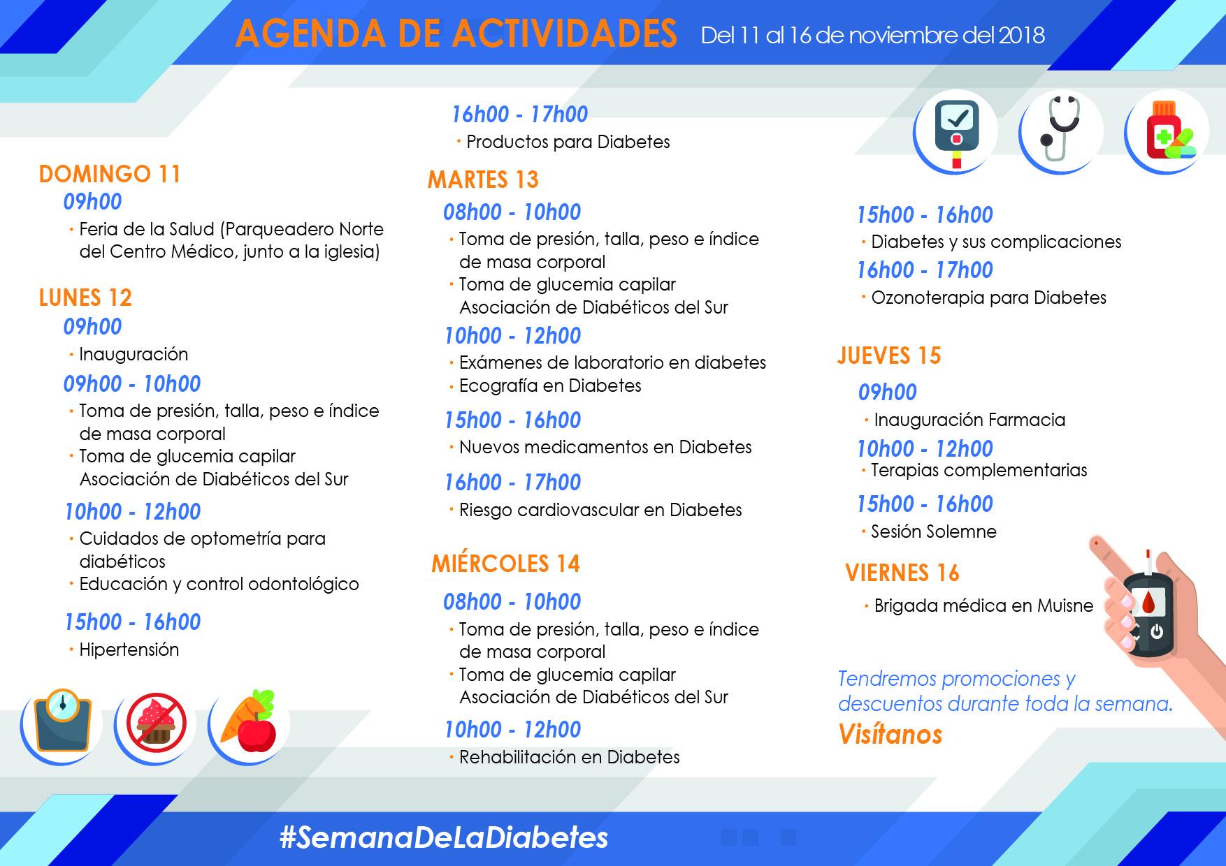 Agenda Semana de Prevención de la Diabetes