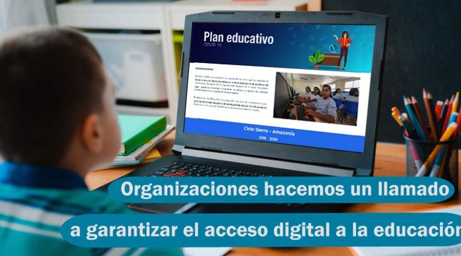 Organizaciones hacen un llamado a entidades del sector privado para garantizar el acceso digital a la educación