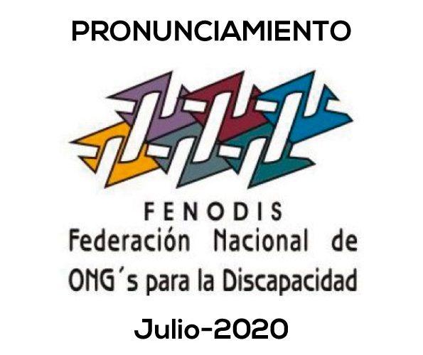 Pronunciamiento FENODIS 2020