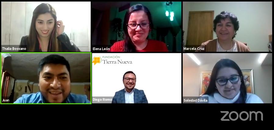 Profesionales de Fundación Tierra Nueva en Conversatorio