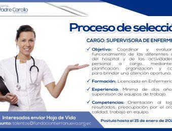 Supervisora de Enfermería